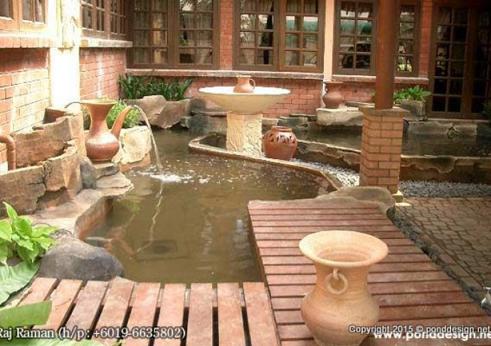 Fish pond construction specialist malaysia fountain for Koi fish pond design in malaysia
