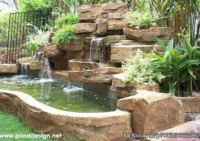 Artificial waterfall made of stone fountain design trading for Artificial fish pond