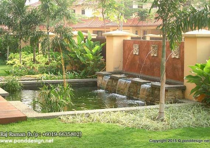 Koi pond construction contractor malaysia fountain for Koi fish pond design in malaysia