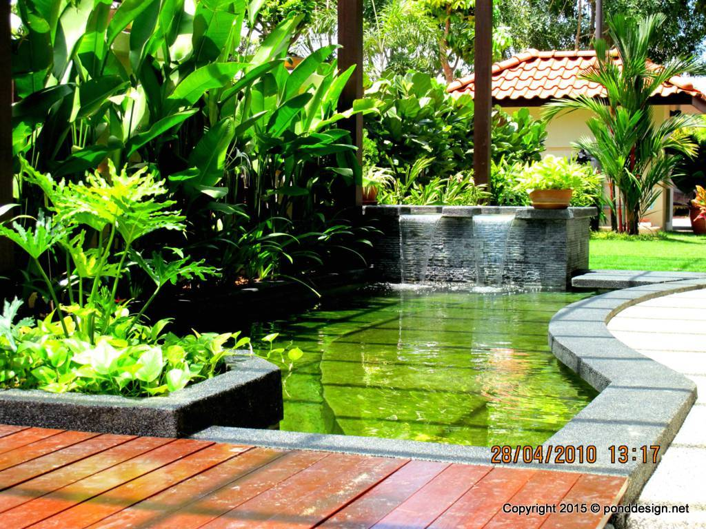 Fish pond design malaysia fountain design trading for Fish pond design