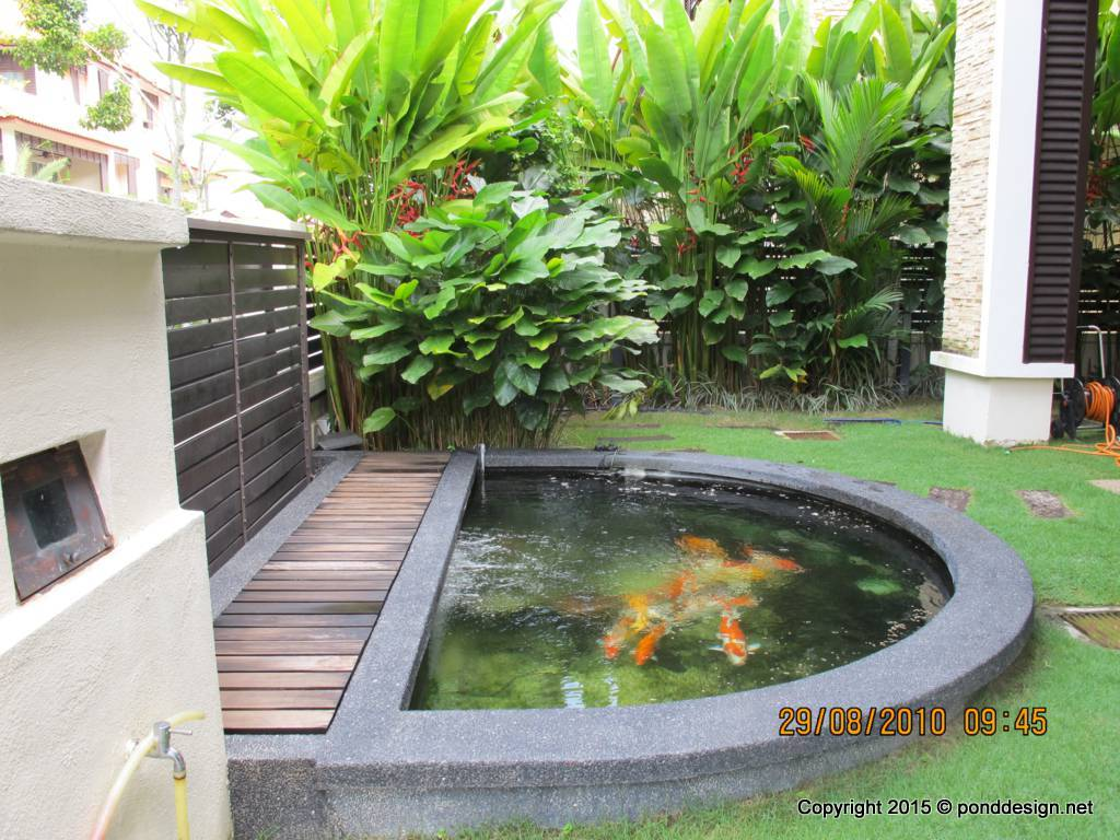 Fish pond contractor malaysia fountain design trading for Backyard koi pond designs