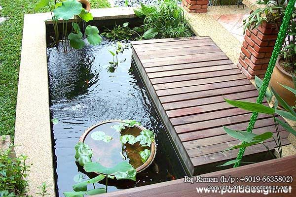 Aquatic plants pond with fish pond malaysia fountain for Koi pond design malaysia