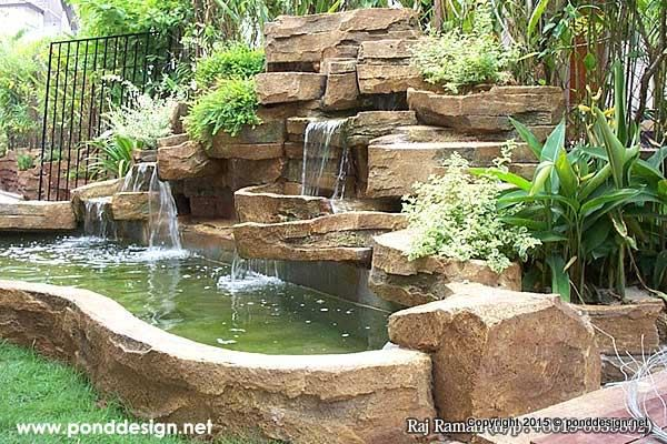 artificial waterfall made of stone fountain design trading