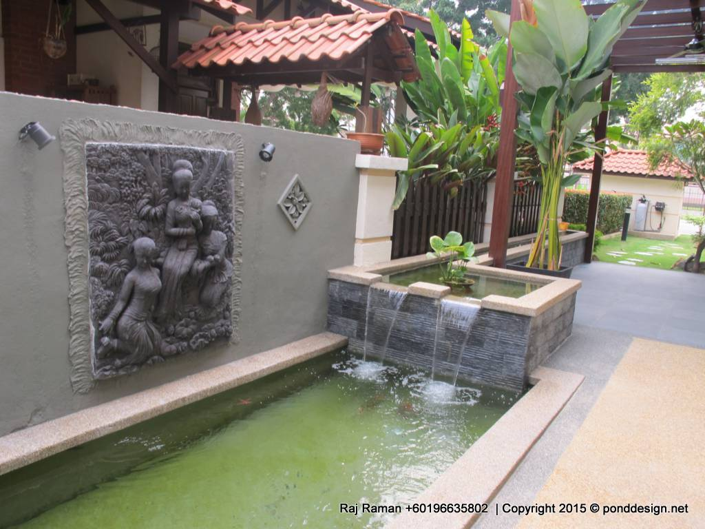 Koi pond design malaysia fountain design trading for Koi carp pool design