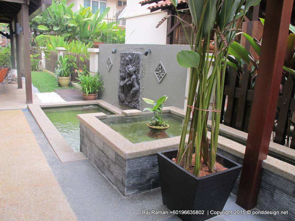 Fountain design trading tropic garden stones sdn bhd for Koi carp pond design