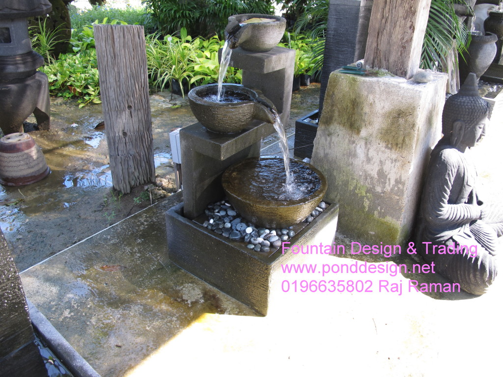Waterfall for indoor courtyard or fo small garden malaysia for Koi pond design malaysia