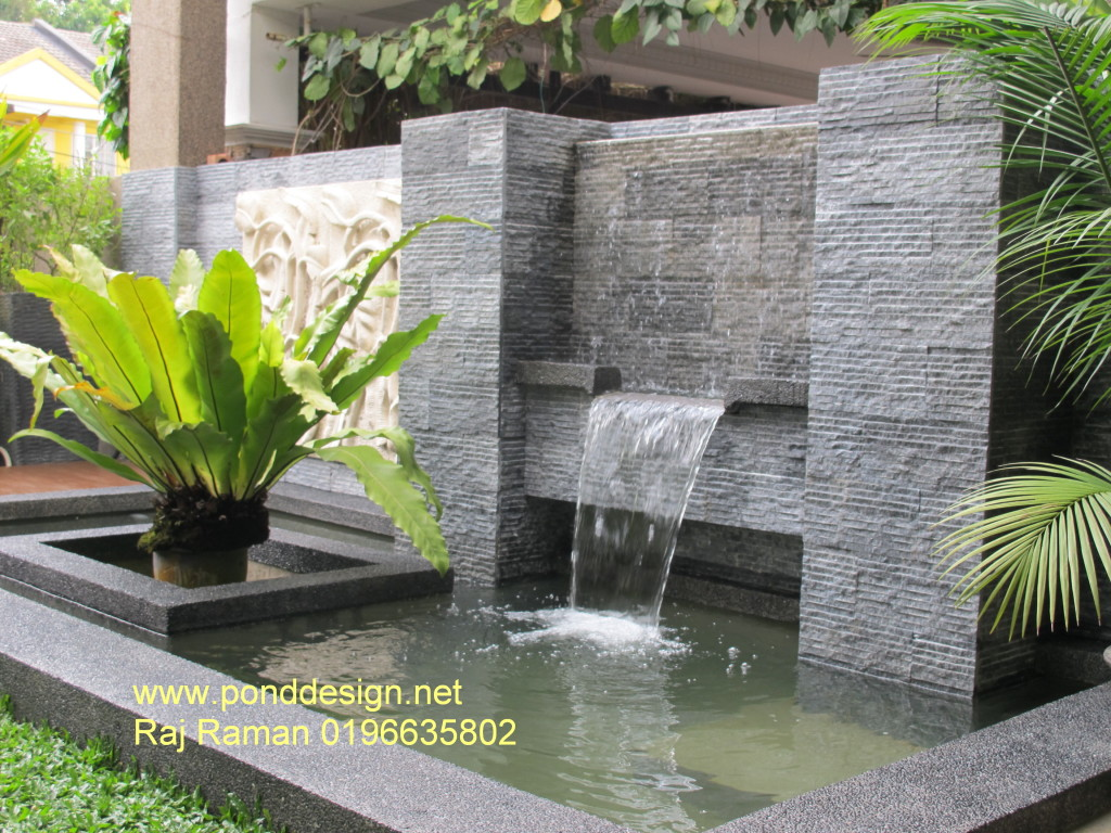 Fish pond design koi pond design malaysia fountain for Fish pond design